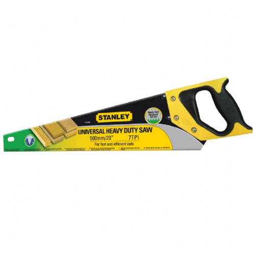 "Stanley 120090 Heavy Duty Sharpcut Hand Saw 500mm / 20"" 7tpi"